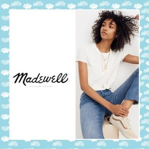 Madewell off white knot front tee